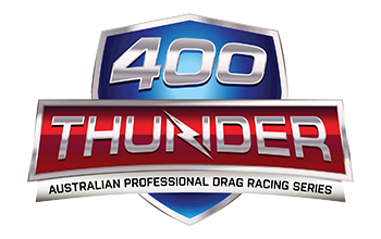 400 Thunder Drag Racing Series show logo