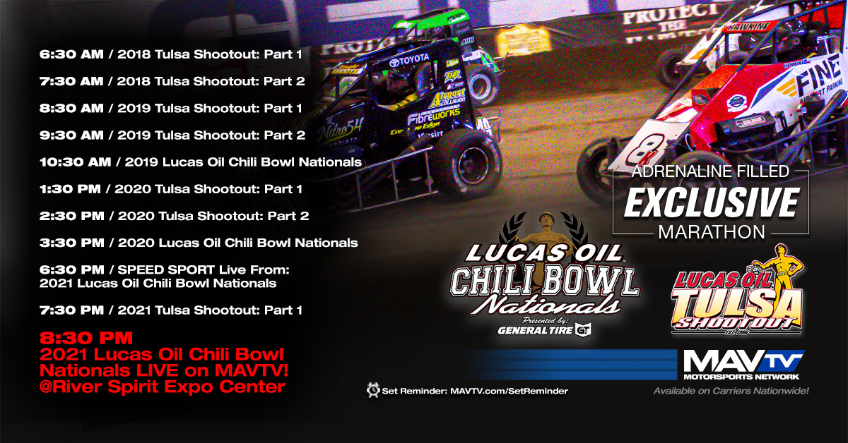 Watch the 2021 Lucas Oil Chili Bowl Nationals Live on MAVTV